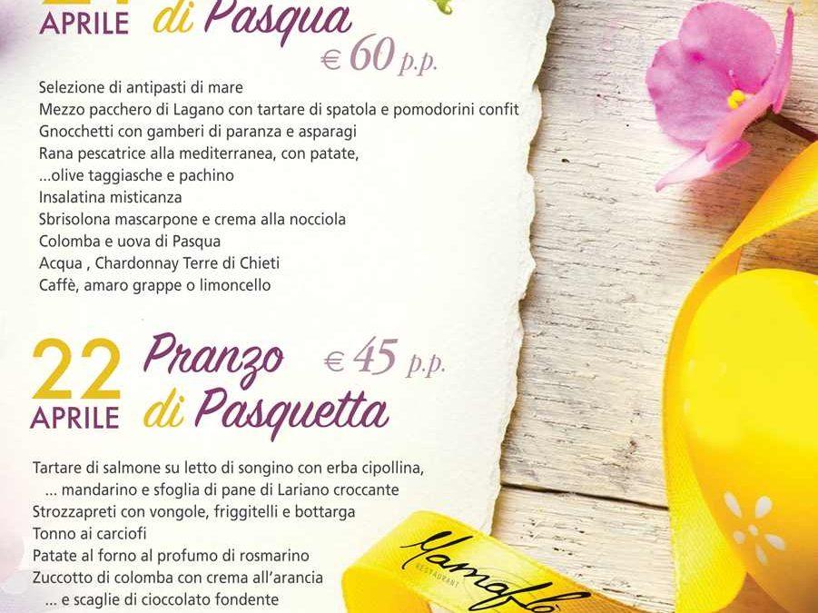 Menù Pasqua Ristorante per Pasquetta